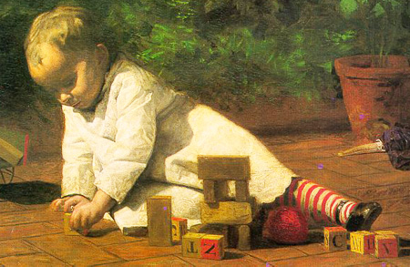 Eakins_Baby_at_Play