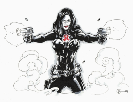 Baroness sketch on Ebay starting Oct. 12th from seller marlabeabenefit